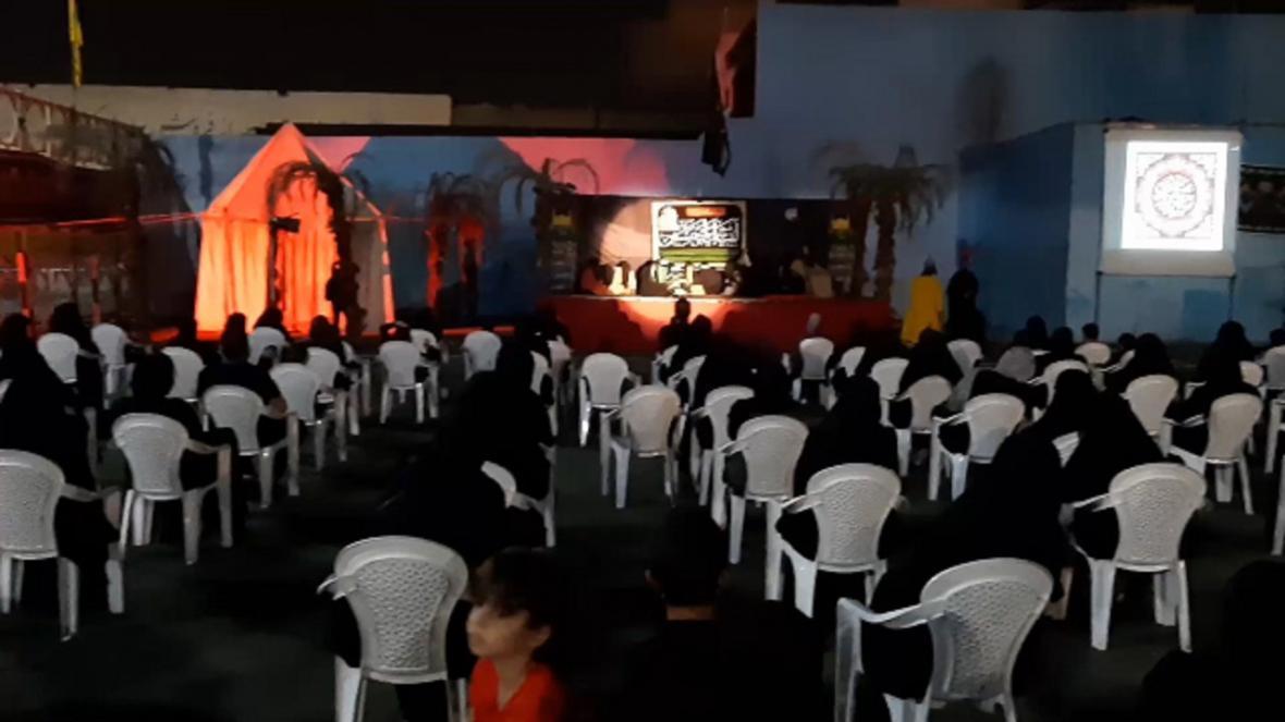 برگزاری نمایشگاه عاشورایی در خیابان قزوین