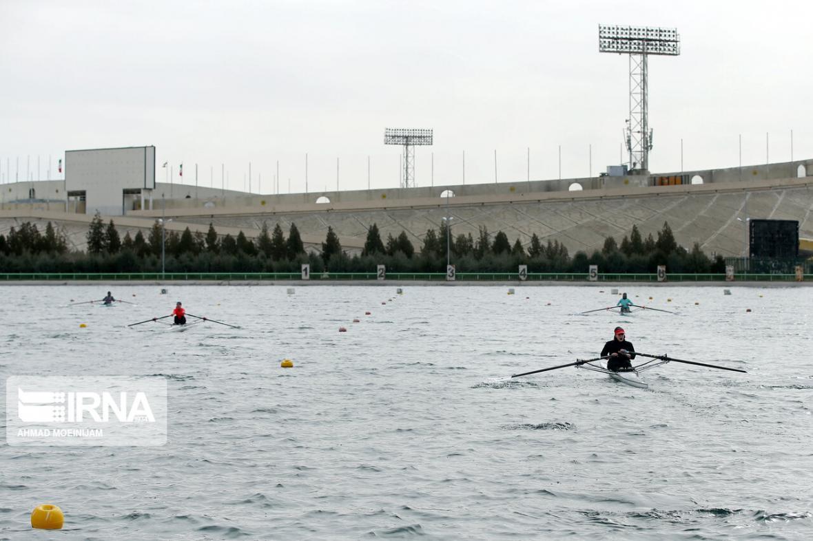 خبرنگاران برگزاری مسابقات رویینگ قهرمانی زنان کشور در دریاچه آزادی