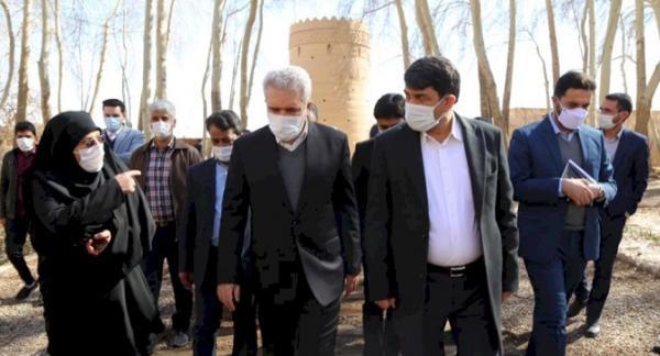 بازدید وزیر میراث فرهنگی، گردشگری و صنایع دستی از باغ جهانی پهلوان پور