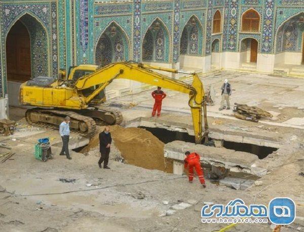 ساخت صحن امام محمد باقر در کاظمین از سر گرفته شد