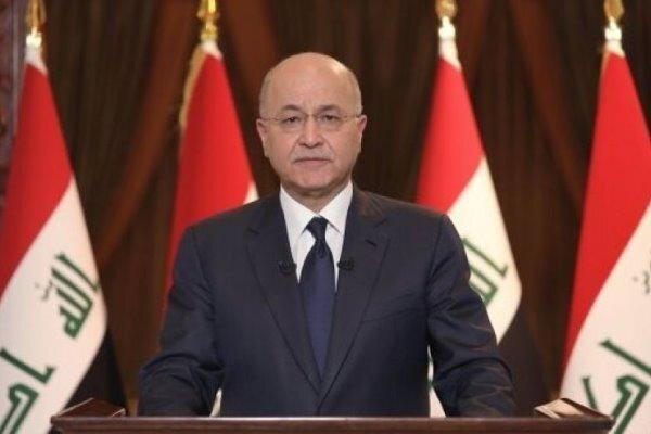 واکنش برهم صالح به انفجار تروریستی در شهرک صدر بغداد