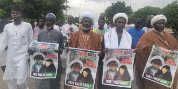 هواداران شیخ زکزاکی آزادی سریع رهبر جنبش اسلامی نیجریه را خواستار شدند